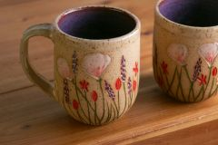 California Wildflowers mug in purple