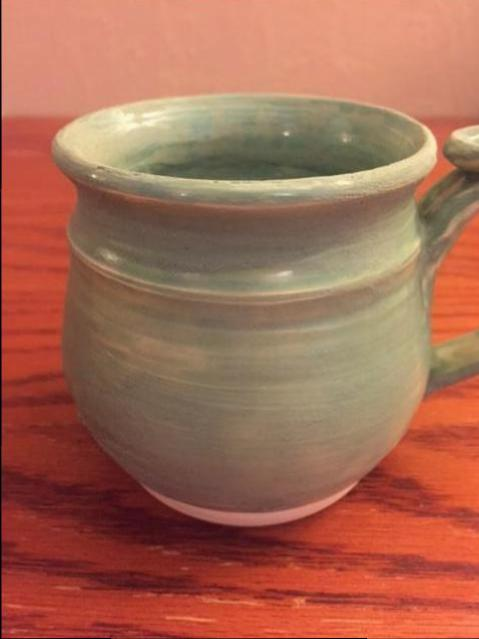 Mug - with cone 6 glaze reglazed over with cone 06, pic 3