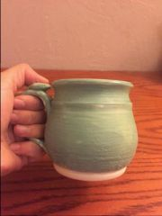 Mug - with cone 6 glaze reglazed over with cone 06, pic 2