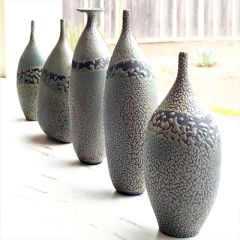 Moss Pebble Vase Collection