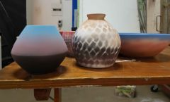 Spray Glazed (underglaze)
