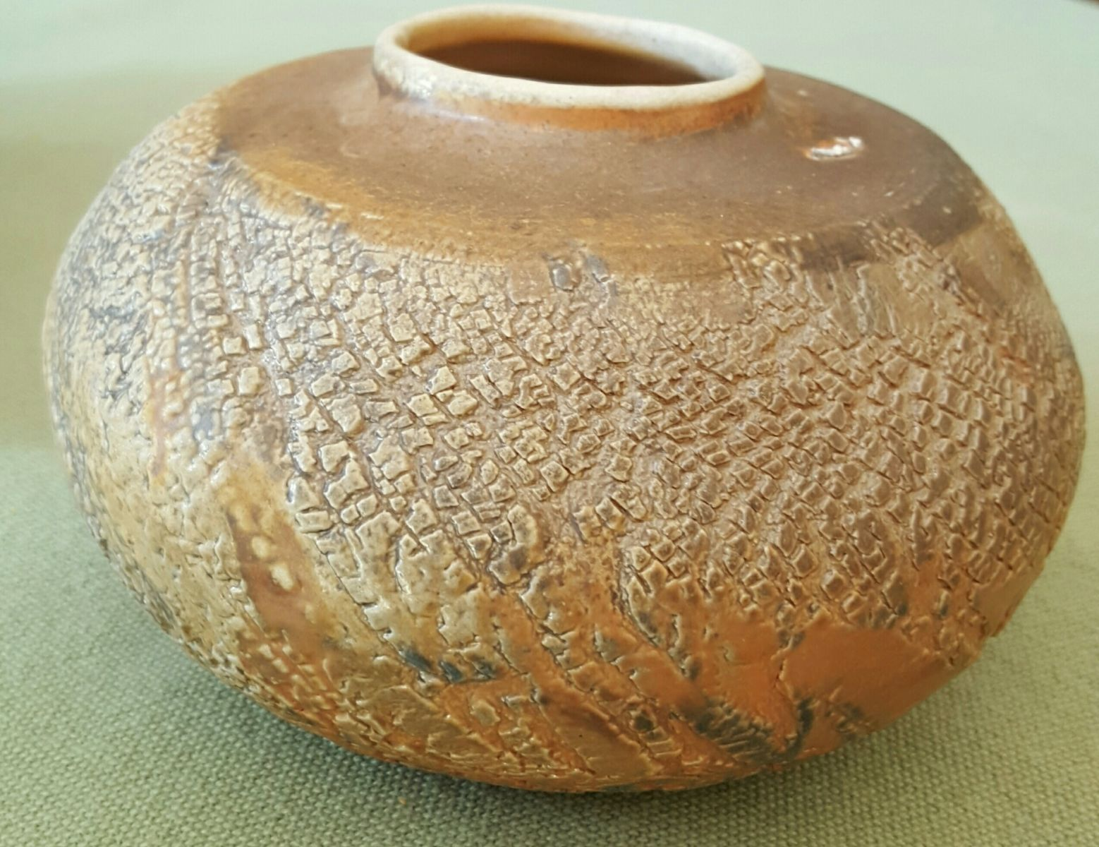 wood fired Ss with underglaze