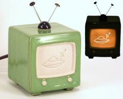 porcelain TV green