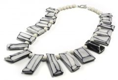 Faceted porcelain necklace
