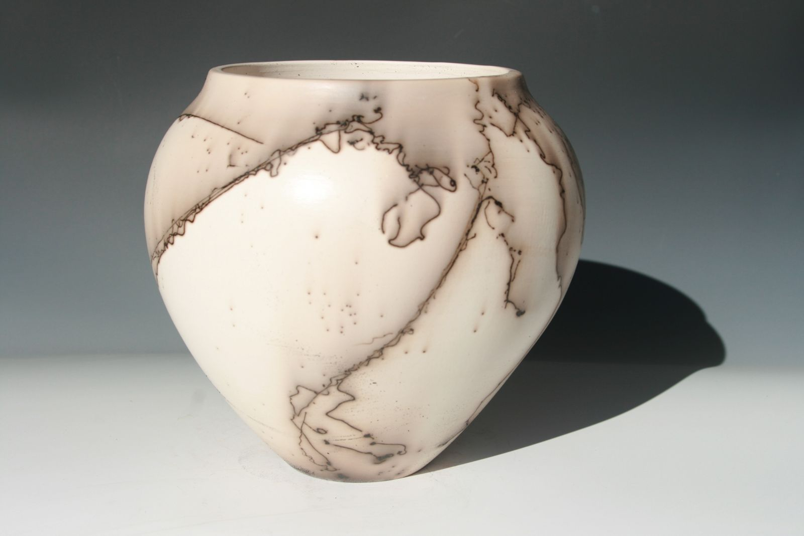 Horsehair pottery