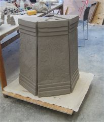"fountain base,  38 "" high"
