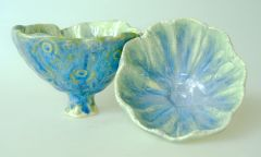pinch pot pedestal bowls