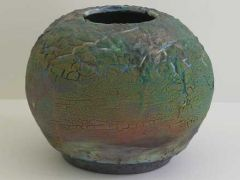Raku. two layers of Piepenberg patina glaze