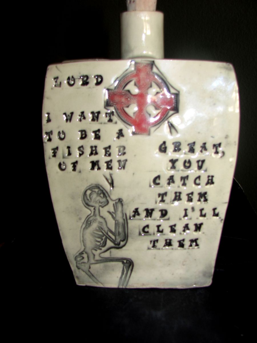 Handmade ceramic flask #5 Conversation with the Lord