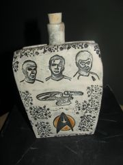 Handmade Ceramic Star Trek Flask