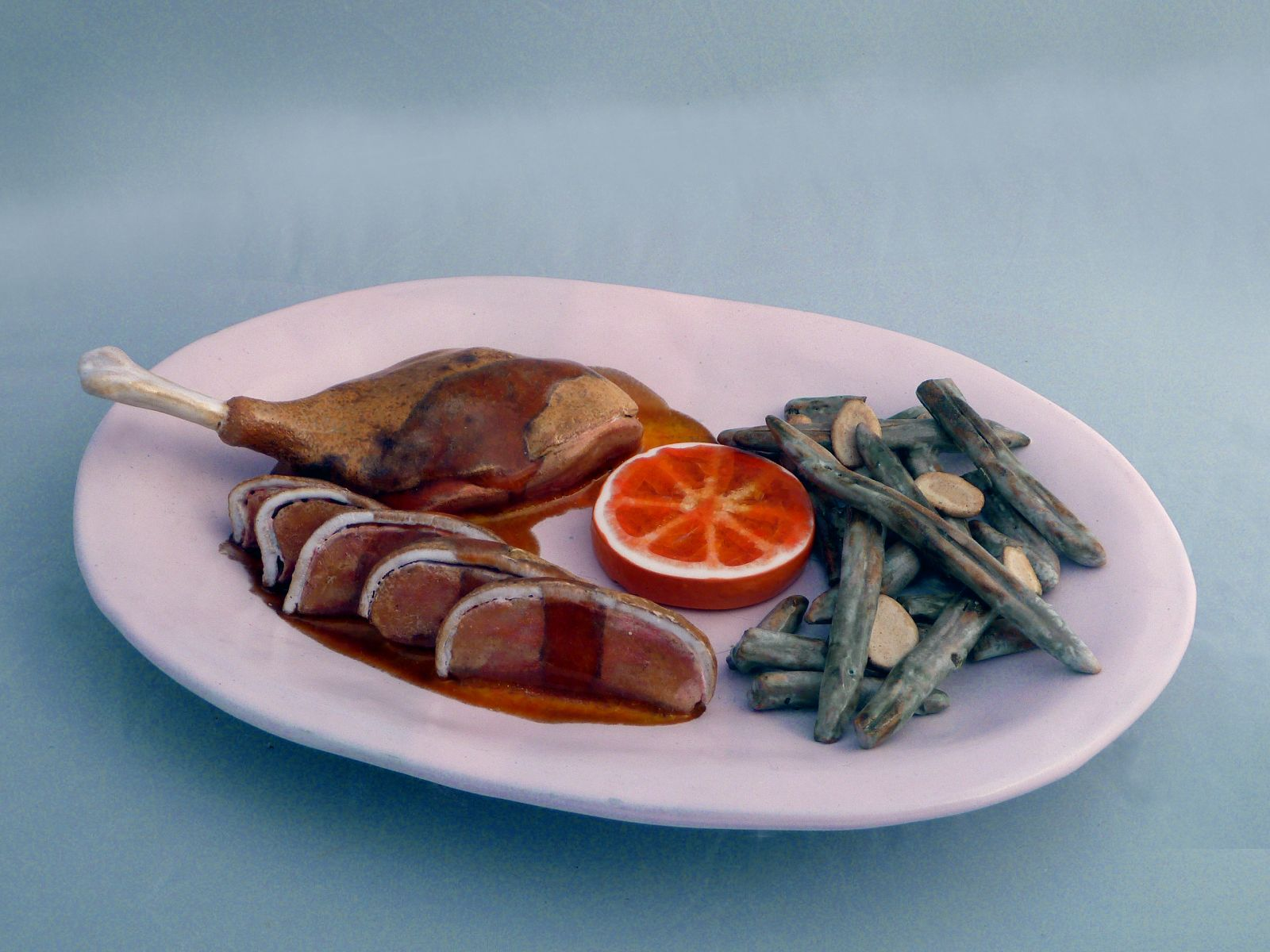 Return Of The Duck in Ornage Sauce with Haricots Verts Amandine