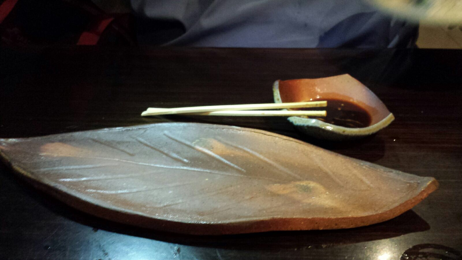 Leaf shapedi plate, small plate. Woodfired