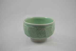 Green Textured Small Porcelain Bowl