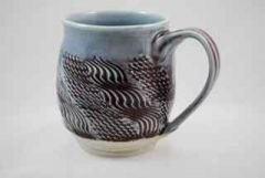 Blue Textured Porcelain Mug