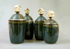 Lidded Jars with Custom Handles