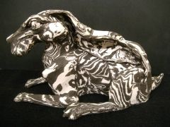 Earthstone and porcelain hare