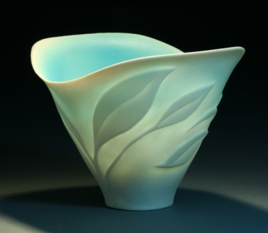 Translucent porcelain bowl.