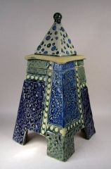 Pyramid lidded pot 1