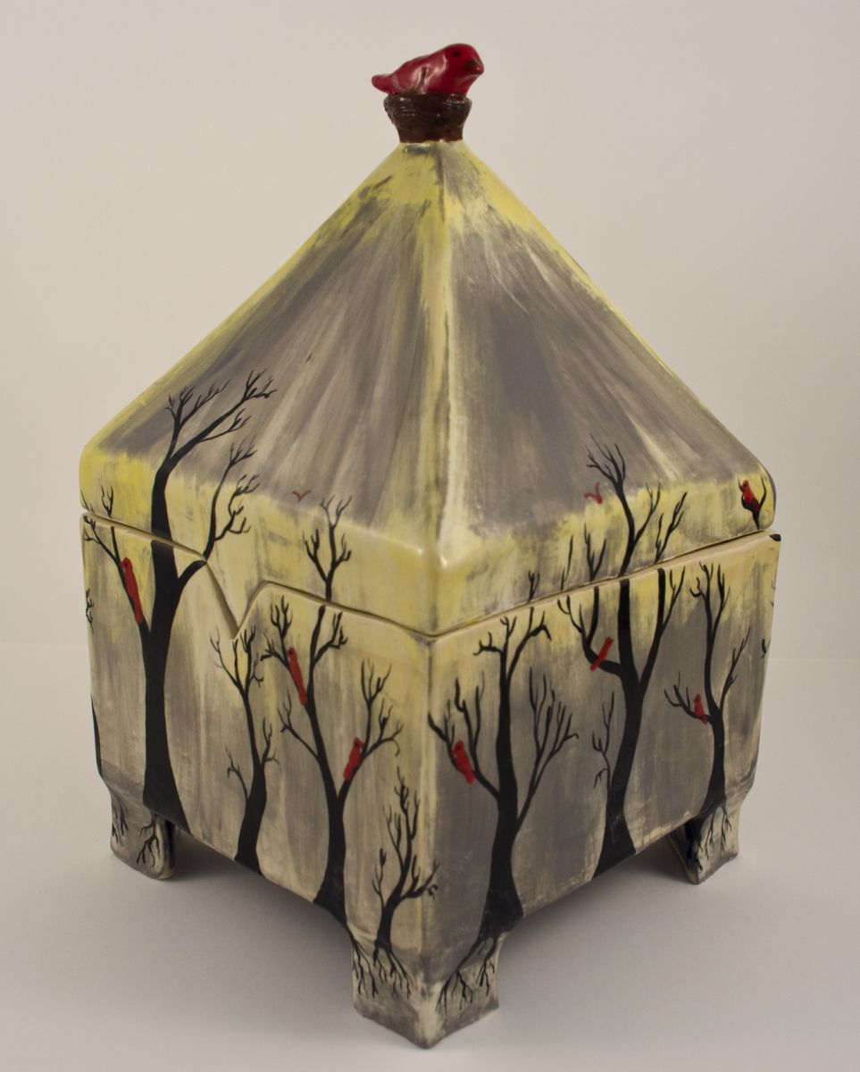 Misty Day Pyramid Box Browse Member Galleries Ceramic