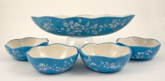 blue and white dish set