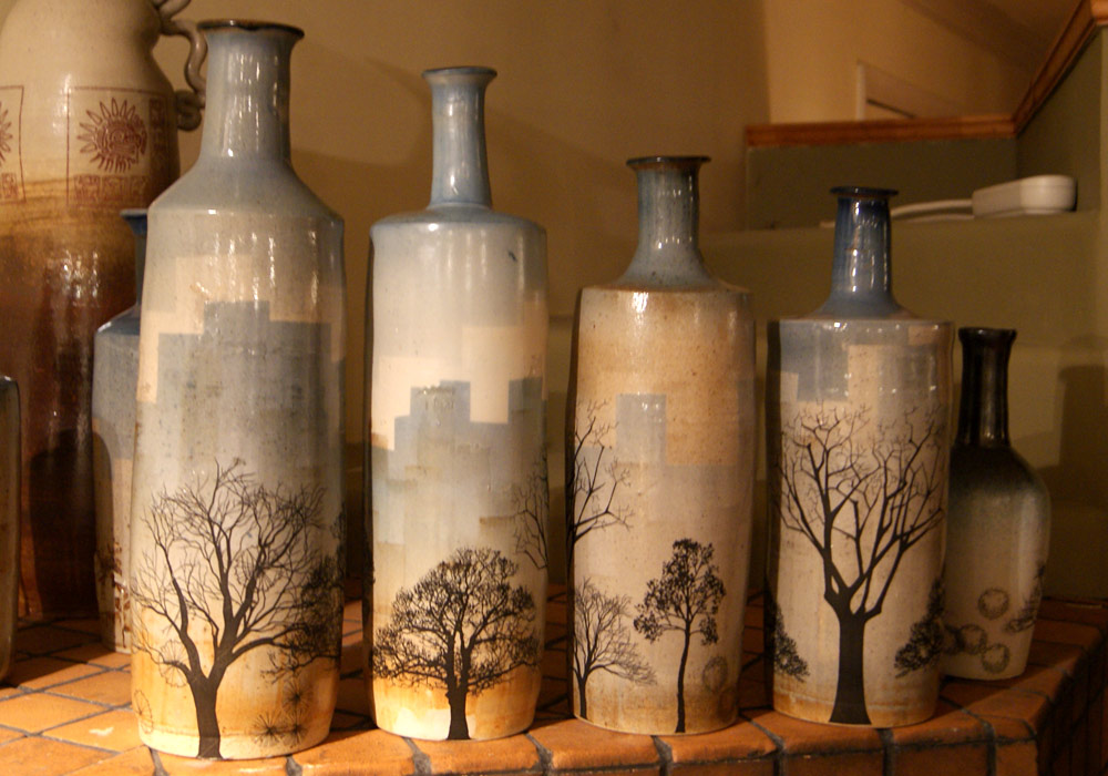 Decals Applied - Cityscape Bottles