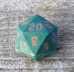 Green with Red D20