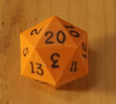 Orange with Black D20