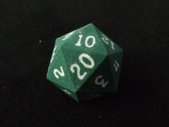 Green with White D20