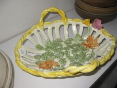 handbuilt clay basket