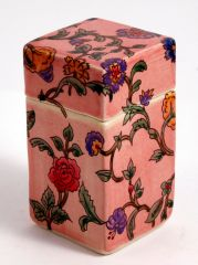 Hand colored Floral Transfer Box