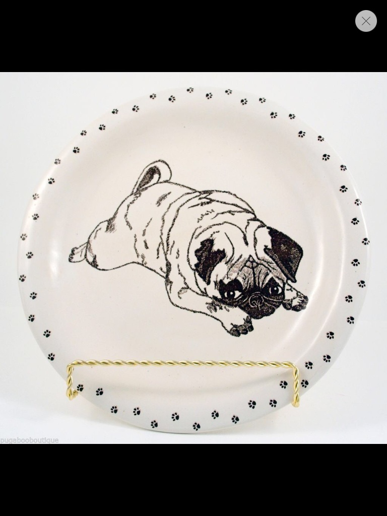 Pouty Pug Collector Plate