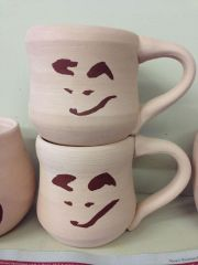 Fox Faces mugs unfired