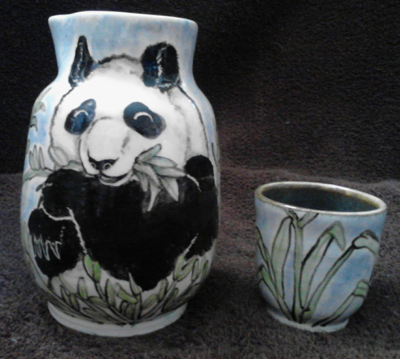 Panda Sake Bottle With Cup