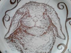 Sgraffito Holland Lop Saucer