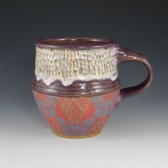 butterfly with sgraffito Mug