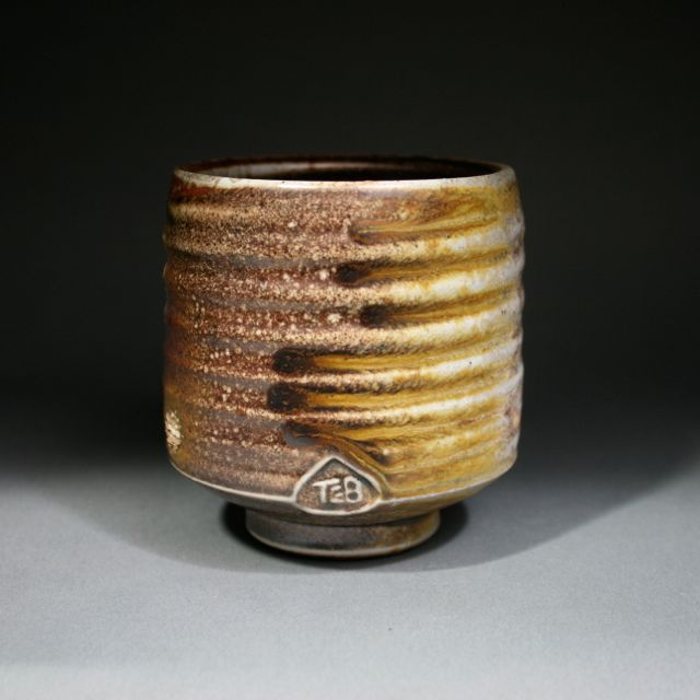 Wood fired stoneware with shino glaze