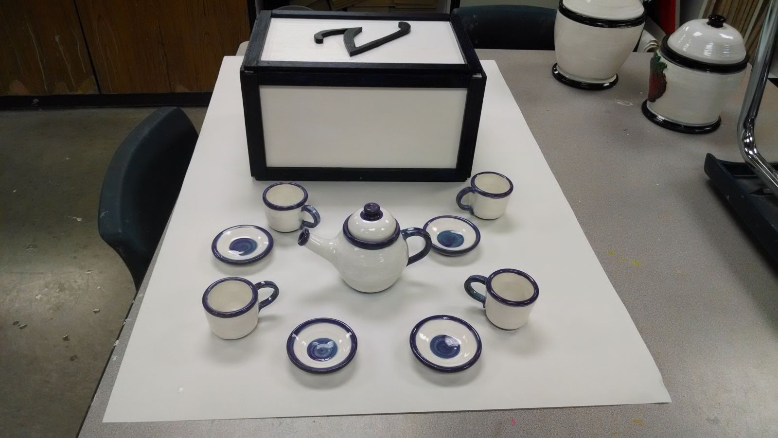 Tea Set and Box Exterior