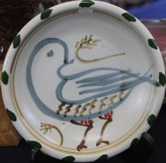 Bird Plate with Cobalt
