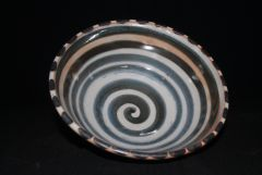 Large Shino Bowl with Spiral
