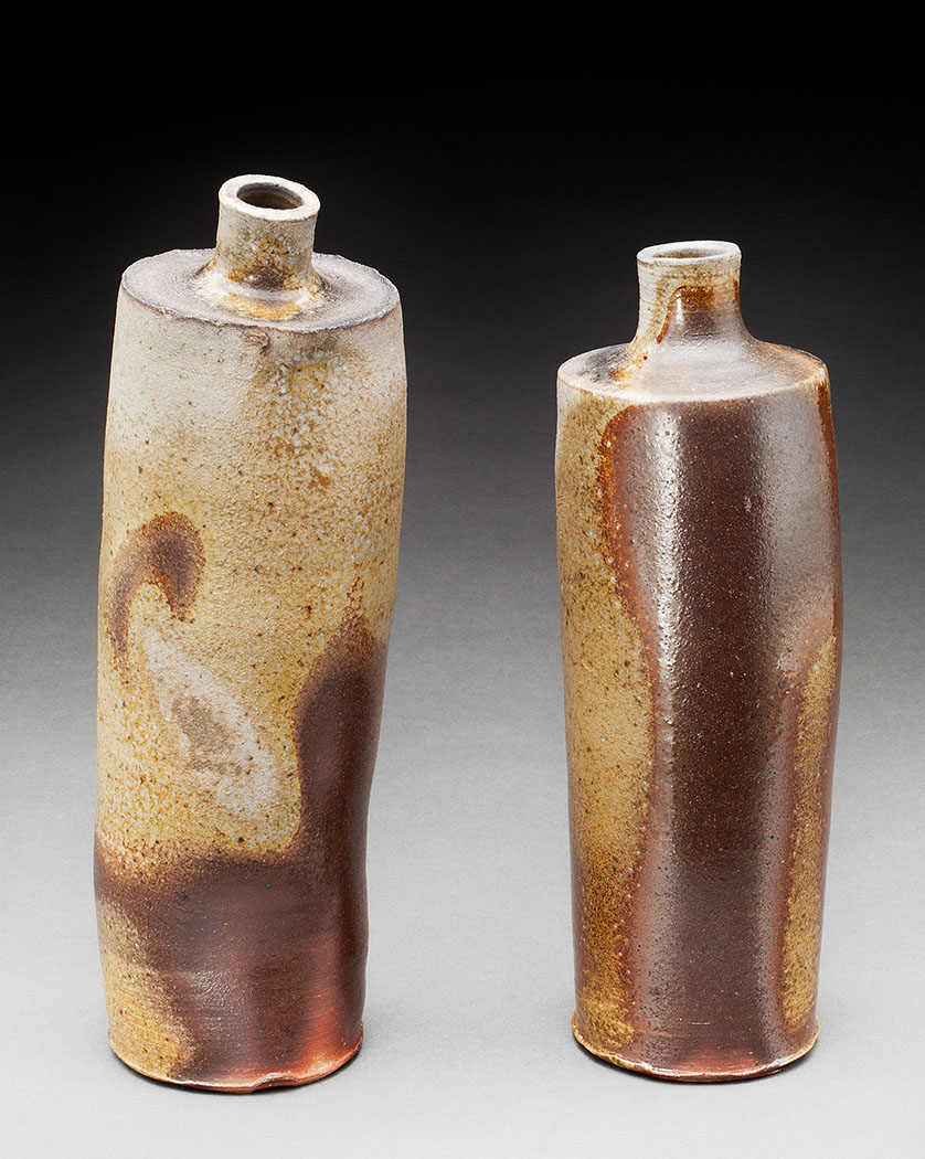 Two standing bottles