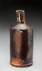 Small wood fired bottle with shino glaze