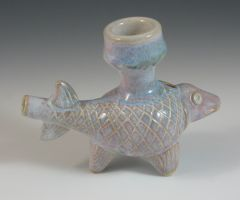 Fish Effigy Pipe