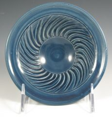 Small blue spiral fluted bowl