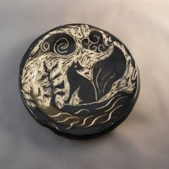 Sgraffito Fox Plate