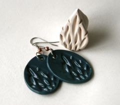 Teardrop stamp and earrings