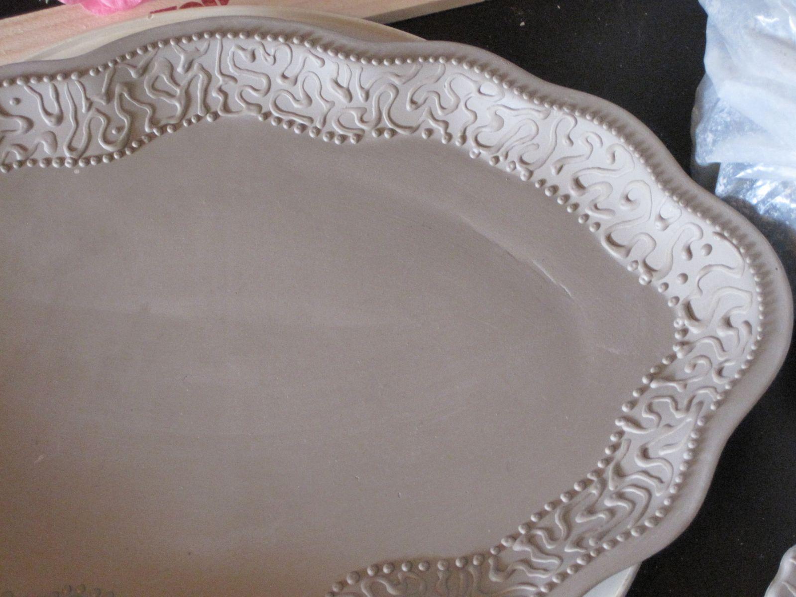 Moroccan platter, slip cast stoneware - Browse Member Galleries