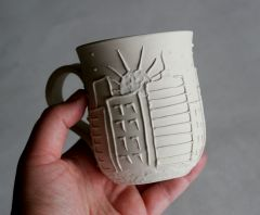 City sunrise mug