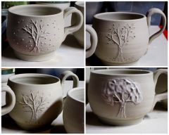 Four seasons tree mugs