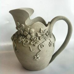 Greenware Mother's Day pitcher
