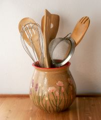 California Wildflowers Utensil Holder, Red